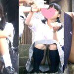 【画像】制服少女のパンチラ